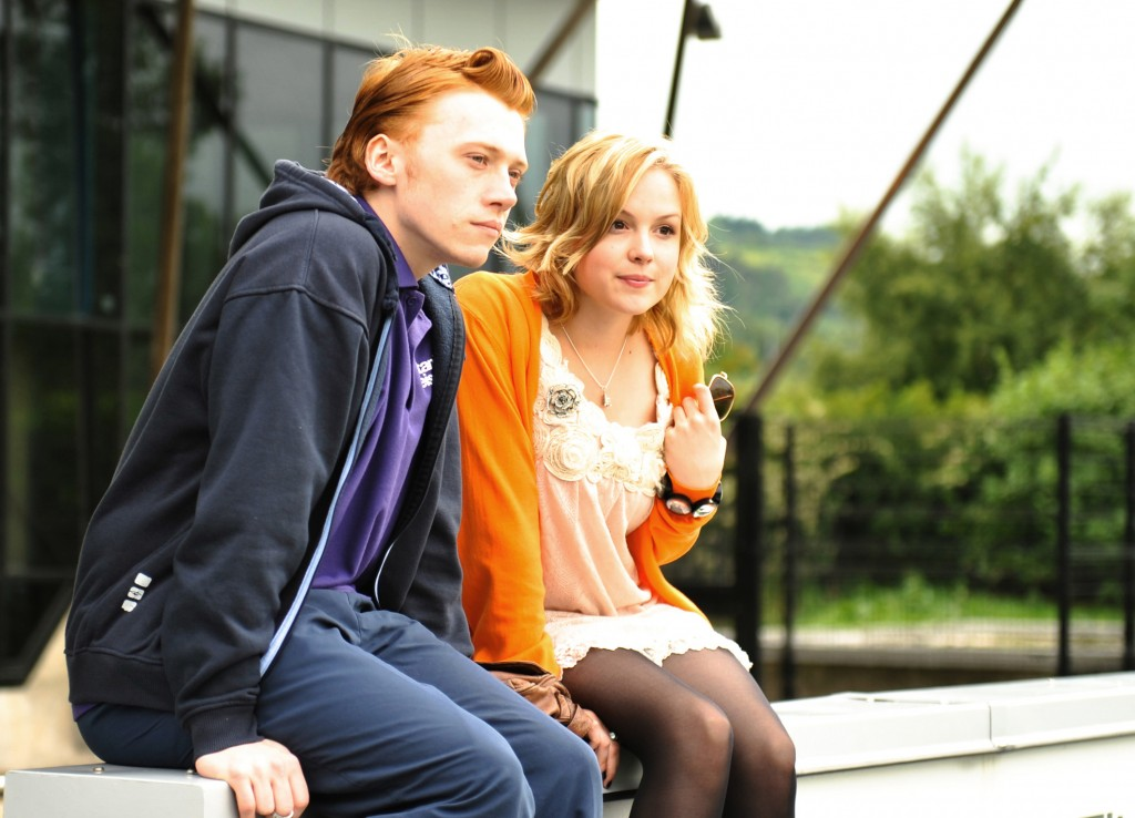 Rupert Grint and Kimberley Nixon in Cherrybomb. Photo by Helen Sloan
