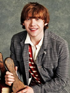 Rupert Grint, happy. Photo courtesy of Entertainment Weekly.